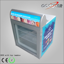 Commercial portable mini ice cream display freezer for sale