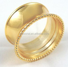 Wholesale Gold Round Napkin Rings for Wedding Party Napkin Holders Table Decoration