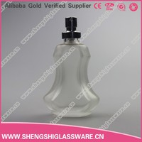 violin shape frosted empty glass spray perfume bottles