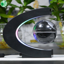 Gift item auto free rotation C shaped magnetic floating globe best romantic gifts