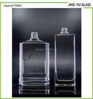 Crystal Clear Thin Glass Bottle Cheap Price Cosmetic Glass Bottle Clear Fluted Glass Bottle