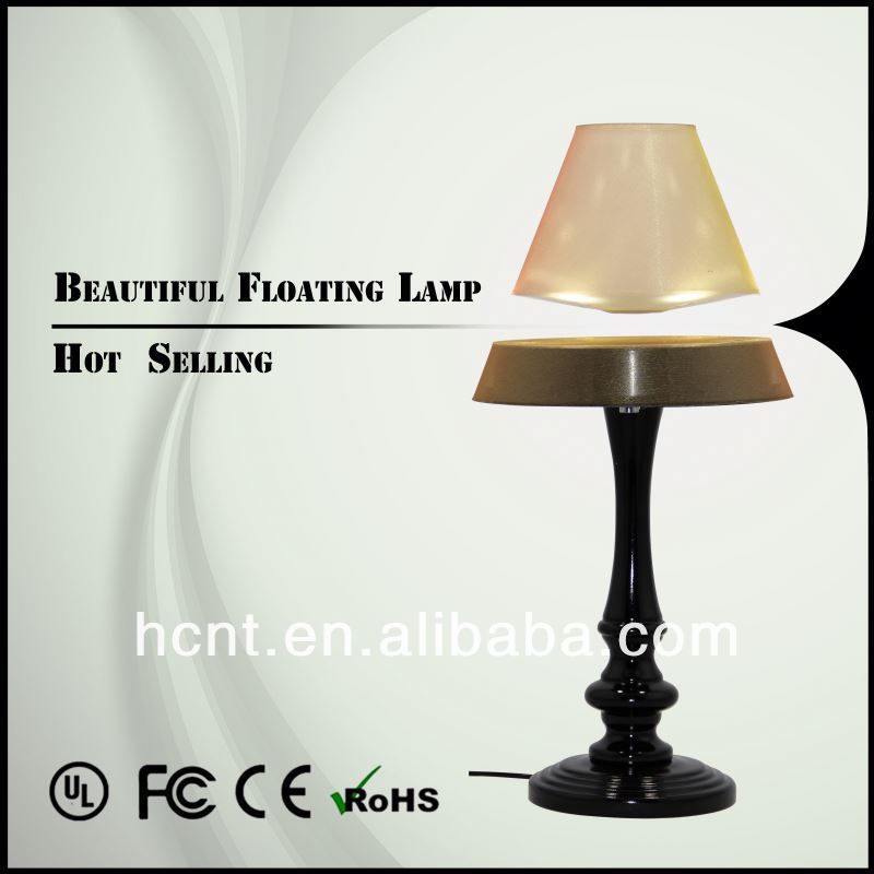 New Creation ! Magnetic Levitating Reading Lamp, 12w dimmable double-arm oval head led table lamp