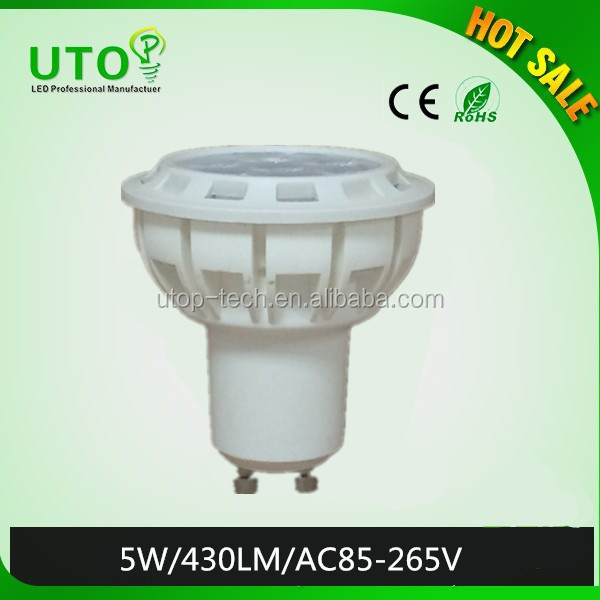gu10 AC85-265V led spot light with 3 years warranty