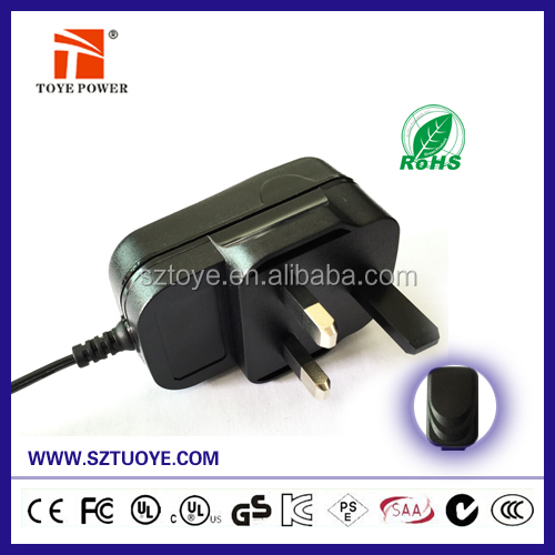 Hot selling 18v dc 400ma ac adapter with safety standard EN60335-1