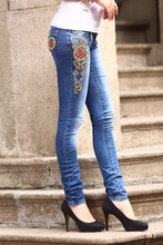 OEM custom breathable denim jeans pictures sexy jeans women jeans leggings tights