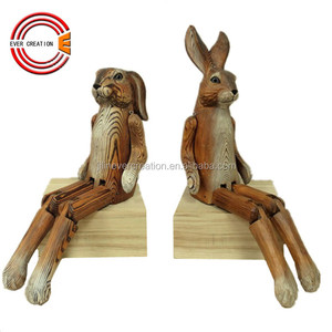 wooden easter sitting bunny craft