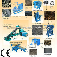 Waste tire recycling machine for making rubber powder