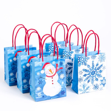 Christmas Snowman & Snowflakes Treat Gift Bags paper bags manufacturing process