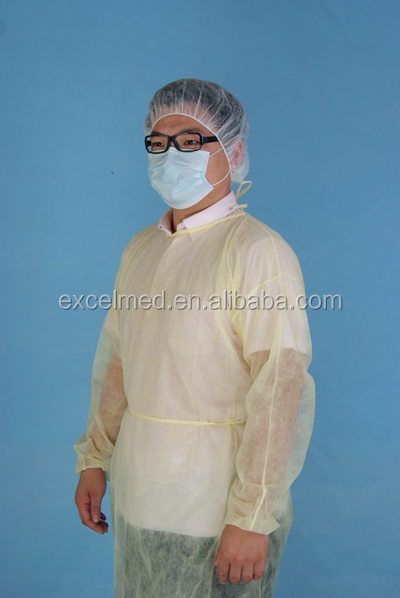 Cheapest medical use hospital disposable isolation gown visiting gown ISO 13485