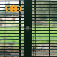 High school border PVC coated metal wire garden vandal resistant security fencing and gates manufacture
