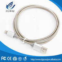China supplier nickel plated spring usb charging cable for mobile phone