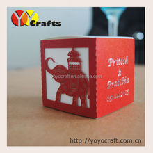 indian favors box elephant red wedding favor boxes