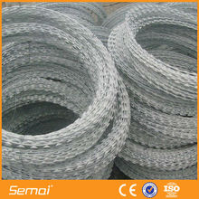 450mm coil diameter concertina razor barbed wire/Galvanized razor wire coils, galvanized razor barbed wire (Manufacturer)