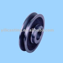 pulley cast iron part sand casting precision CNC machining parts