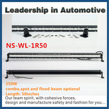 BEST NEWS! 250watt 50 inch led light bar single row 4*4 led bar 24v 50'' 250w offroad led lightbar for truck