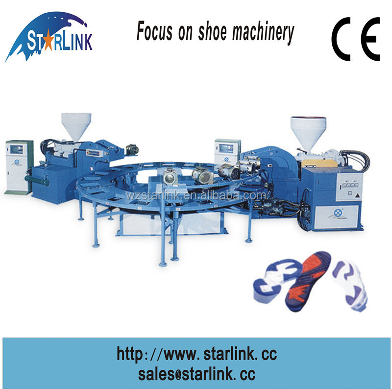 Wenzhou STARLINK hot sale double color sole TPR/TPU moulding injection shoe machine