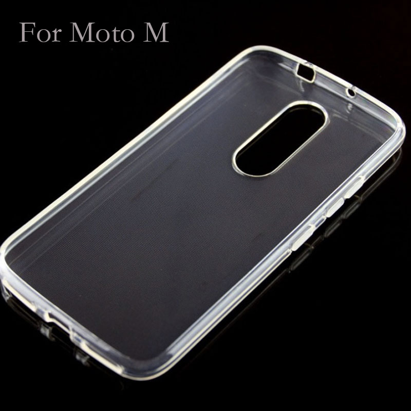 Soft Clear TPU Gel Back Cover Case For Motorola Moto M Mobile accessories