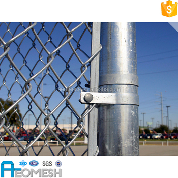 Made in Guangzhou Garden Decoration Color Painted vinyl coated chain link fencing fence used for protecting railway
