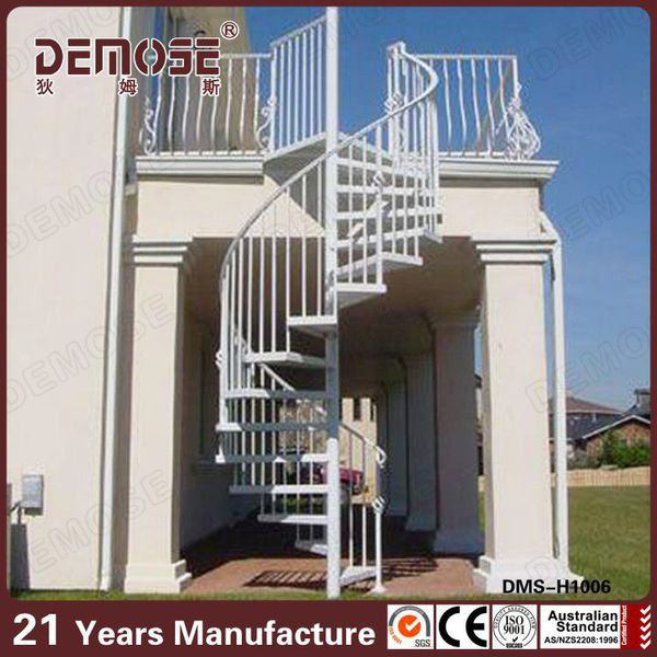 prefabricated outdoor wrought iron/metal spiral stairs