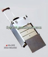 New Products Wheeled Makeup Cosmetic Carrying Cases Rolling Aluminum Trolley Case