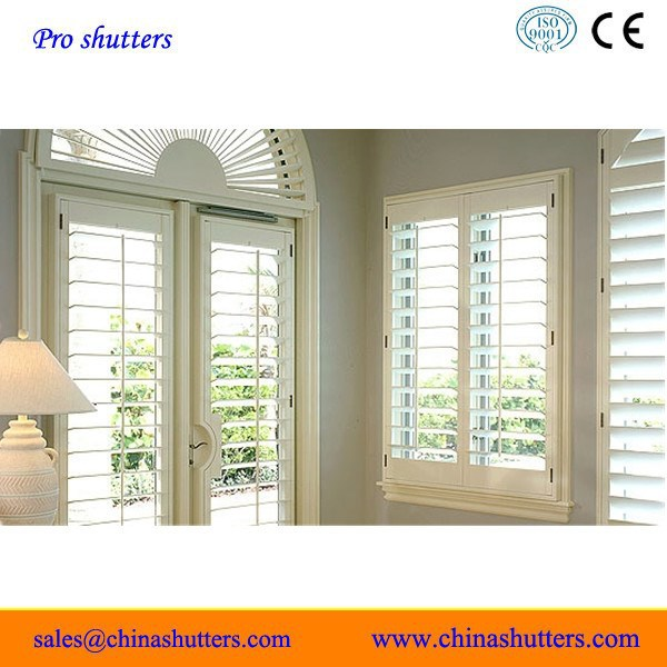 Decorative french style vinyl shutter parts/louver/window blind