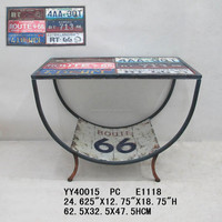 Spilice plate metal table for home decoration, Decorative metal table, Rectangle metal ottomans