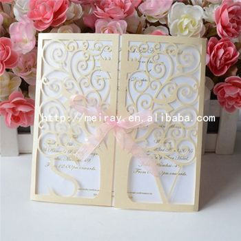 Wedding cards letter design laser cut customized names initials design invitation cards wedding