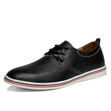 2017 OEM customized high quality comfortable perfect color flat shoes pictures leather men cheap casual shoes