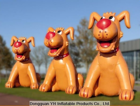 customed giant advertising inflatable dog, cartoon character