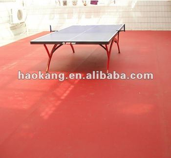 Indoor Flexbility Table-tennis court PVC sports flooring