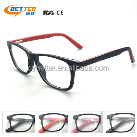 Hot Sale A01 Acetate fashion full frame glasses optical with clear lenses