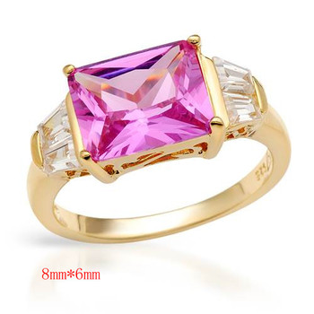 silver jewelry pink cz diamond gemstone wedding engagement stainless steel ring jewellery for women ZZR104