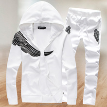 100% cotton men's hoody suit wholesale sweat suits print logo custom man hoody