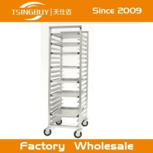 Wholesale stainless steel commercial baking racks definition for oven bun pan with heat-resistant wheels
