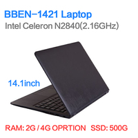 Cheapest 14 inch laptop 2G/4G 500G 1920*1080 HD screen ultrabook barebones