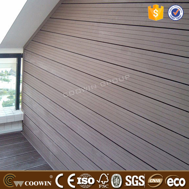 Cheap groove wood plastic composite partition walls