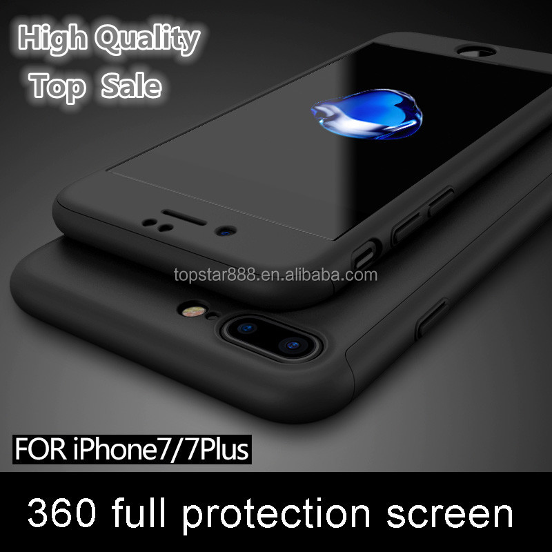 Top Sale Hard Ultra Thin Matte Plastic 360 Case For iPhone 6 7 6S 7 Plus Full Cover Smartphone Case For Promotional Gift