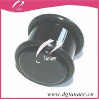 Stainless steel body jewelry ear plug 2 gauge