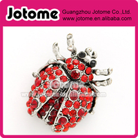 Ladybug rhinestone Brooch Red Crystal Lady Bug Broach Rhinestone Insect Brooches Jewelry for Ladybug Lover