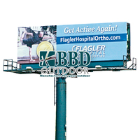 cheap advertising steel outdoor billboard structure
