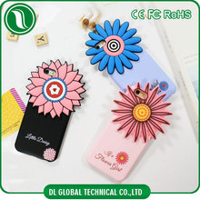 Korea mobile phone accessories design your own silicone phone case for iphone 6 housing sunflower silicone cover for mobile