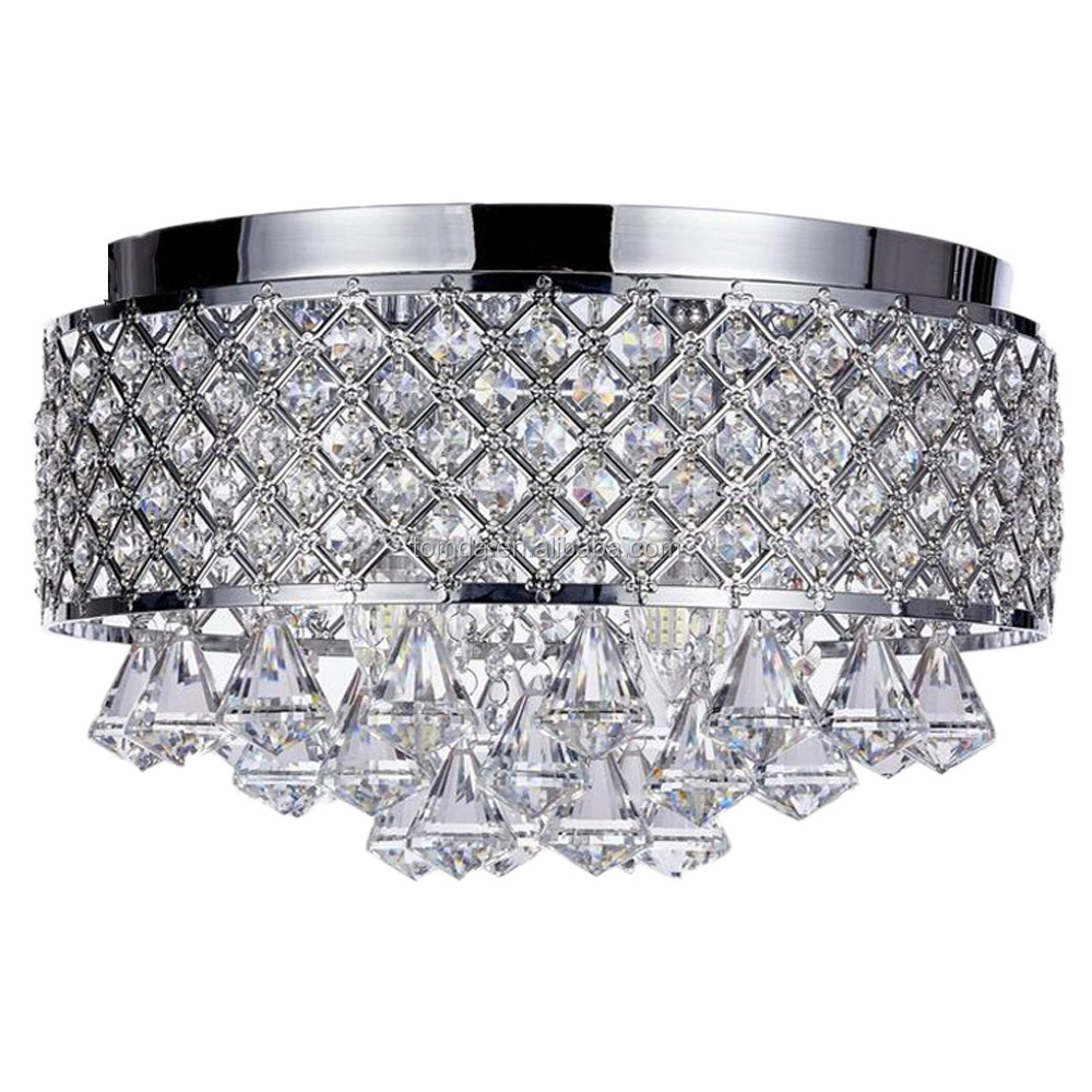 New Disgin K9 crystal Chandeliers For Home Decorative Lighting Hanging Lamp led ceiling light