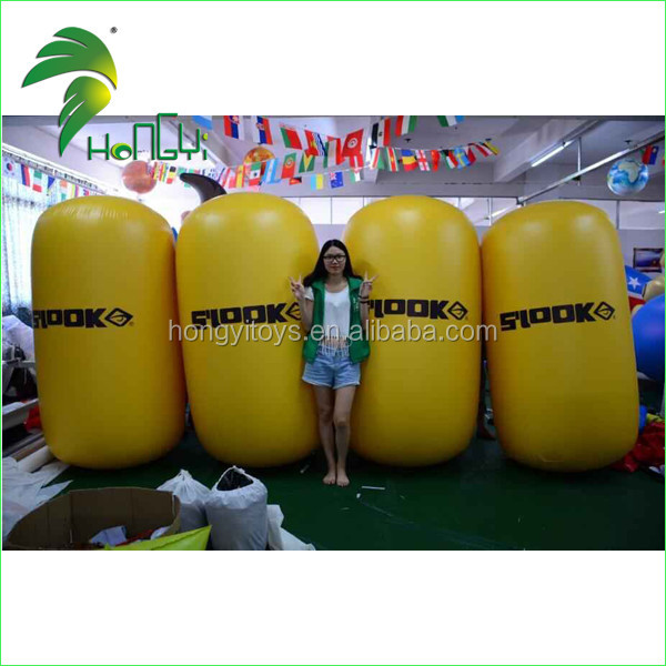 Water Floating Marker Inflatable Buoy , Advertising Swim Inflatable Cylinder Buoy