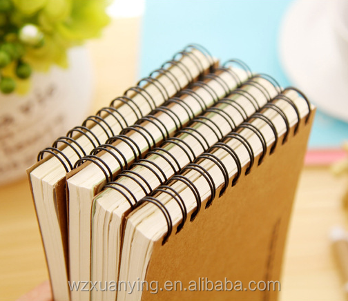 Hot selling kraft paper spiral exercise note book for students