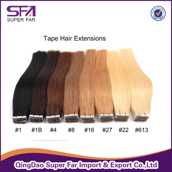 top quality full cuticle all color tape hair extensions