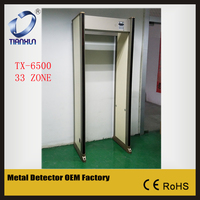 TX-6500 33 Zone security metal detector Special Events Metal Detector walk through scanning door scanner gate