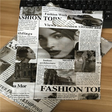 Fashion picture printed shopping die cut plastic bag for clothing with customized logo