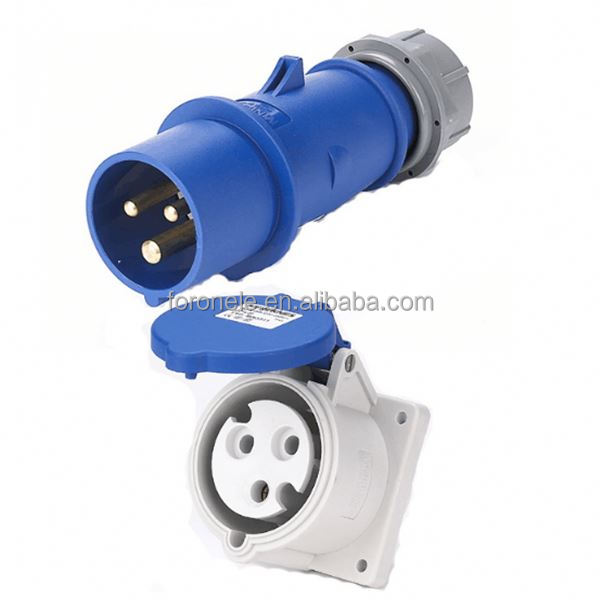 Manufacture 3p+e+n electric plug socket industrial socket 220v plug ip67 power plug and socket