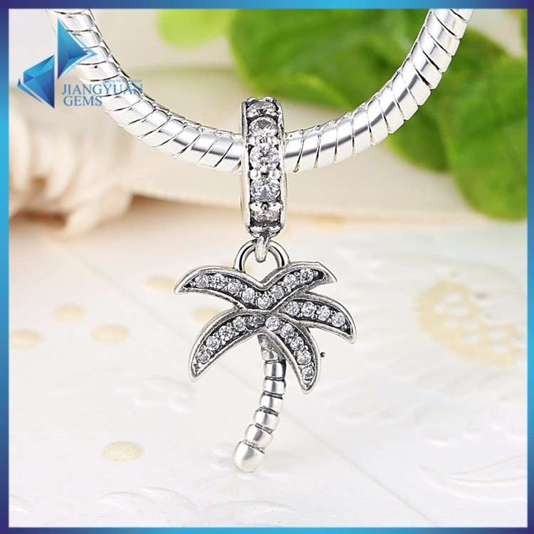 PAS041 925 stering silver jewellery accessories silver tree <strong>charm</strong>
