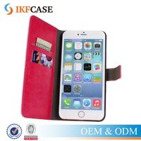 Wallet Style Kickstand PU Back Cover Case for iPhone 6s